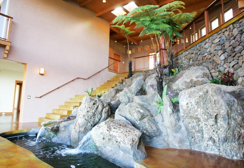Waterfall House Indoor Landscape Hunton Conrad Associates